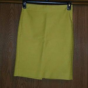 J Crew green pencil skirt